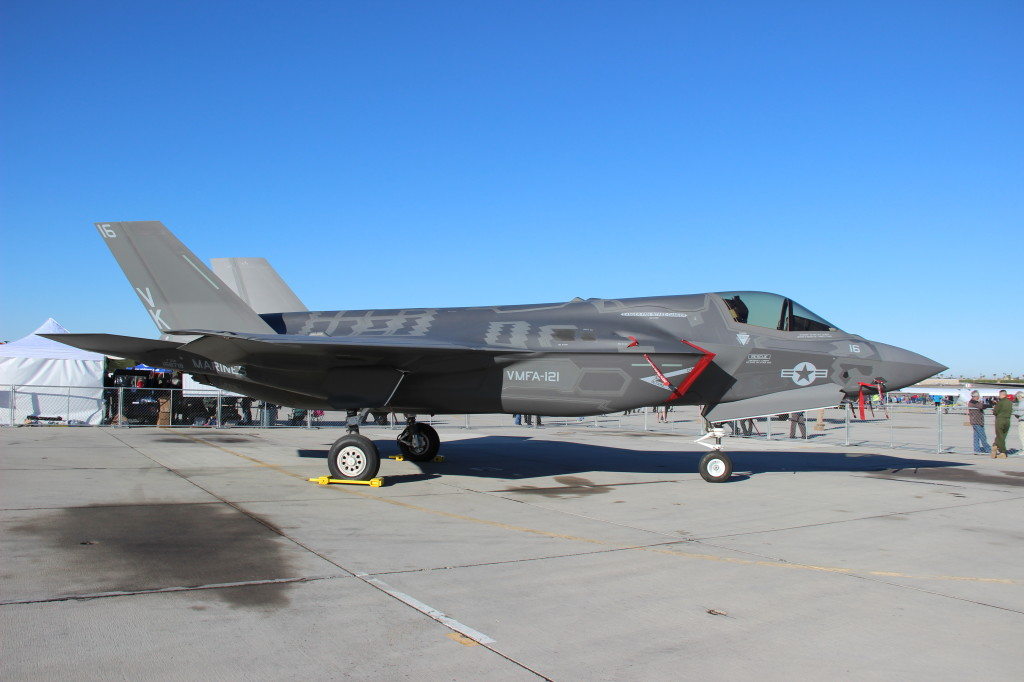 F35-B JSF VMFA 121 Green Knights, March 2013 Yuma Airshow