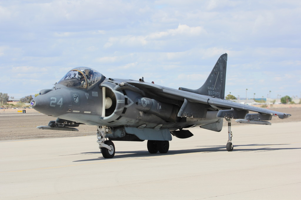 AV-8 B Harrier II VMA - 214 Black Sheeps, March 2013 MCAS Yuma Airshow