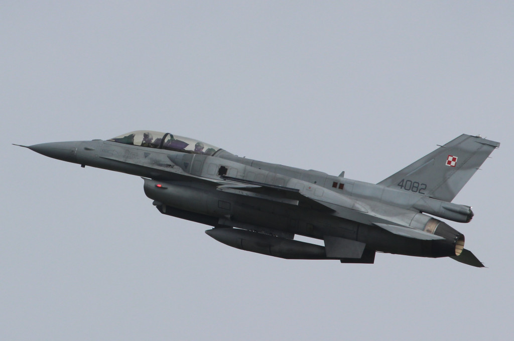 F16 Polish Airfore in nice take off, April 2013 Frisian Flag Leeuwarden AFB