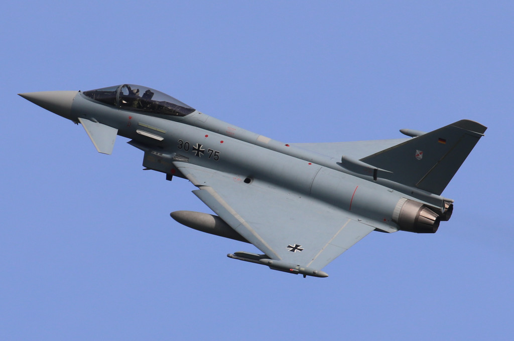 EF2000 30+75 from JG71 'Von Richterhofen' from Wittmund AFB, Germany captured during Frisian Flag 2015, Leeuwarden AFB April 2015