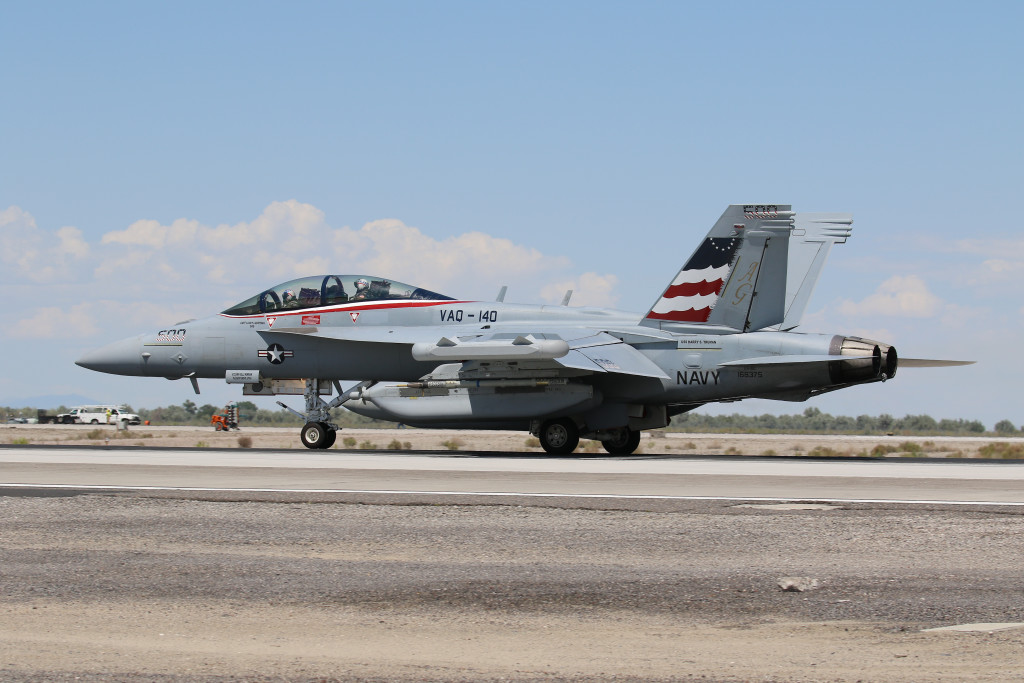 E/A-18G 168375 from VAQ-140 'Patriots' captured in July 2015 on NAS Fallon while do some fighting with the local based NASWC.